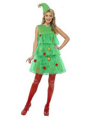 Ladies Christmas Tree Tutu Adult Womens Xmas Party Fancy Dress Costume Outfit UK