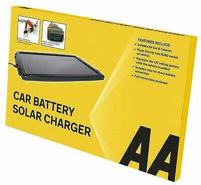 AA Essentials 12 V Solar-Powered Car ,Boat,Caravan Battery Charger SolarPanel AA