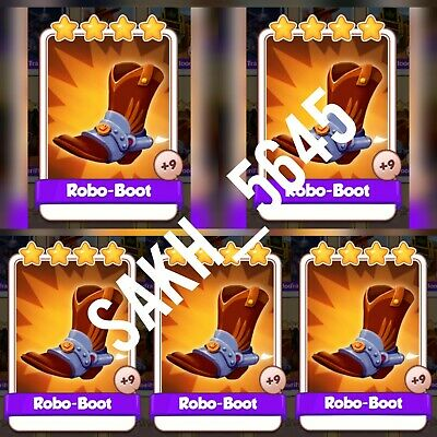 5 x Robo-Boot :- Cyber Cowboys card Set :- Coin Master ( Fastest Delivery )