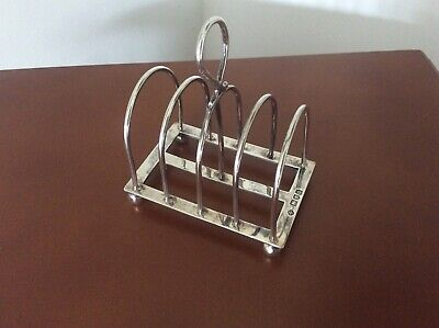 Antique Victorian Solid Silver Toast Wrack 1899 by William Hutton, London.