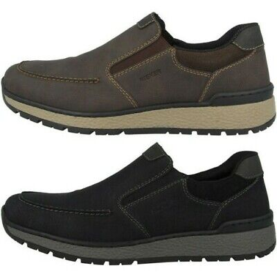 RIEKER SLIPPER SHOES Sneakers Trainers Black Leather 08985