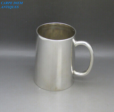 ANTIQUE VICTORIAN NICE SOLID STERLING SILVER 1/2 PINT TANKARD 170g LONDON 1879