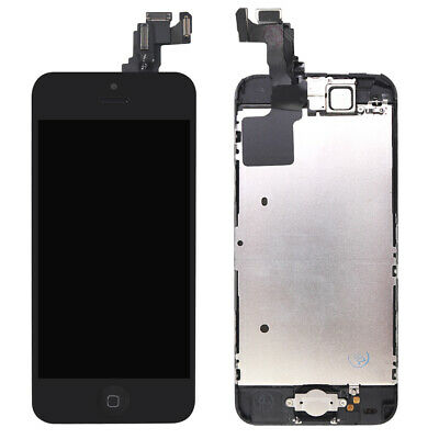 Black For iPhone5C LCD Screen Replacement Full Touch Digitizer Camera Button