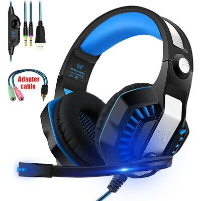 3.5mm Gaming Headset G2000+ MIC LED Stereo Headphones For PC Laptop PS4 Xbox 0z