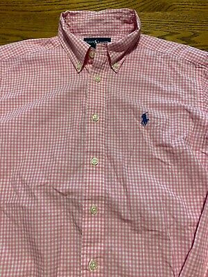 Polo, Ralph Lauren Boys Size Medium, 12-14 Plaid Long Sleeve Shirt