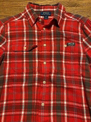 Polo, Ralph Lauren Boys Size Large, 14-16 Plaid, Flannel Long Sleeve Shirt