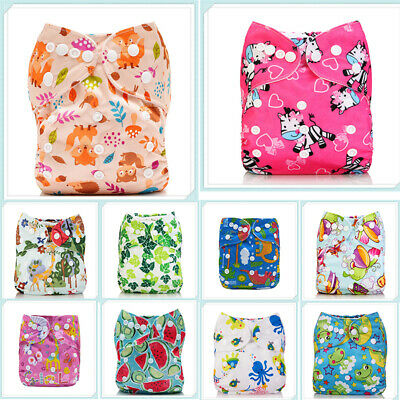 Diapers Insert 1 One Nappy+ 4-layers Pocket ALVA Size Reusable Baby Cloth Bamboo
