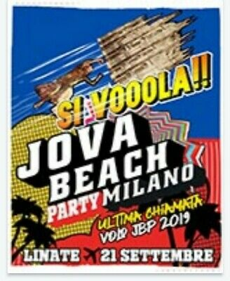Biglietti jova beach party Linate