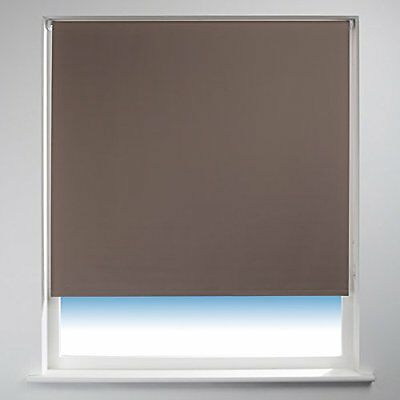Sunlover THERMAL BLACKOUT Roller Blind. Taupe Brown. 150cm width