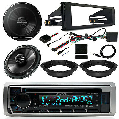 "98-13 Touring Harley Kenwood USB Stereo, 6.5"" Speakers, Thumb Controls, Dash Kit"
