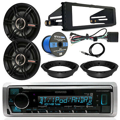 "98-13 Harley Kenwood Receiver, 6.5"" Crunch Speakers, Speaker Wire, Dash Kit"