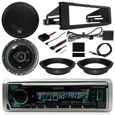 Kenwood Receiver, Audiopipe Speakers, Thumb Controls, Harley Davidson Dash Kit
