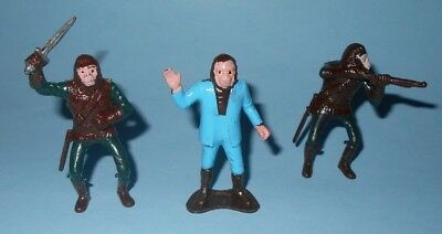 1960s Multiple Planet of the Apes Play Set Hard Plastic 60mm Character Figures
