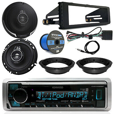"98-13 Harley Kit: Kenwood Receiver, 6.5"" Speakers, Speaker Wire,Touring Dash Kit"