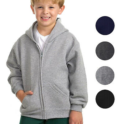 Boys Athletic Soft Sherpa Lined Kids Fleece Zip Up Hoodie Toddler Sweater Jacket