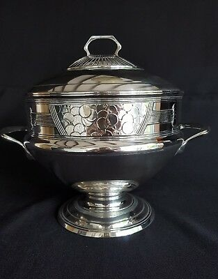 Original French/German art deco tureen trophy dish