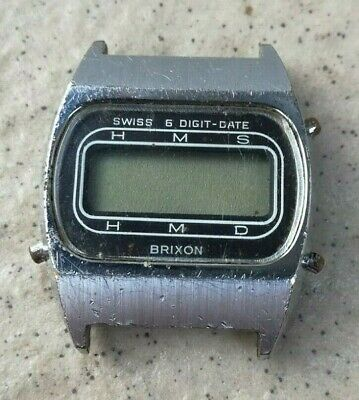 VINTAGE BRIXON LCD DIGITAL WATCH Swiss made MJ6  don't working!!!!