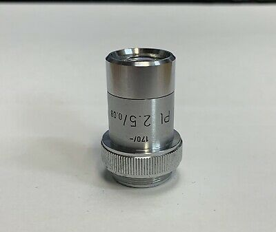 Leitz PL Plan  2.5x/0.08  Germany Microscope Objective 170mm TL