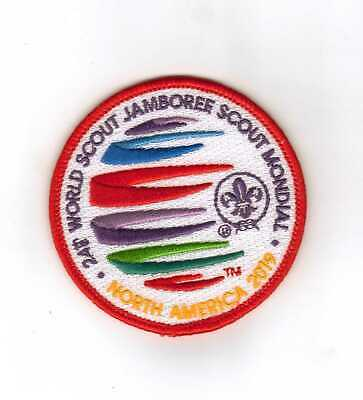 2019  Boy  Scouts  World  Jamboree  Scout  Red   Patch  Official Rare