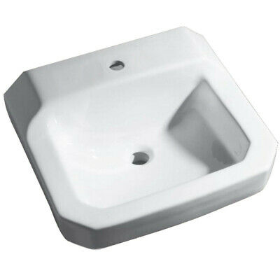 "PROFLO PF5411 19"" Wall Mounted Bathroom Sink - White"