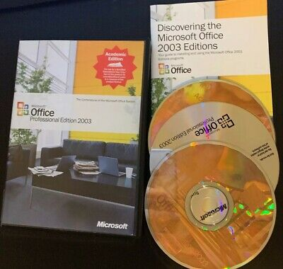 Microsoft Office 2003 for Windows Professional Academic Edition WORD EXCEL PUBLI