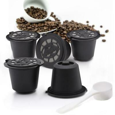 5X Refillable Reusable Coffee Filter Capsule Pods For Nespresso Maker Machine