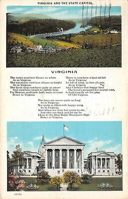 Q24-1733, Virginia And State Capitol. Postcard.