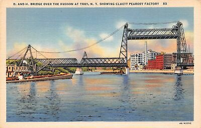Q24-2015, D. And H. Bridge Over The Hudson River, Troy, Ny., Postcard.