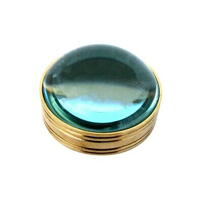 Solid Brass Magnifying Glass Desktop Magnifier Round Ball Concave Desk Lens