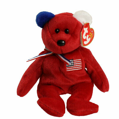 8.5 inch Red Backpack Version - MWMTs BOOKS the Bear TY Beanie Baby