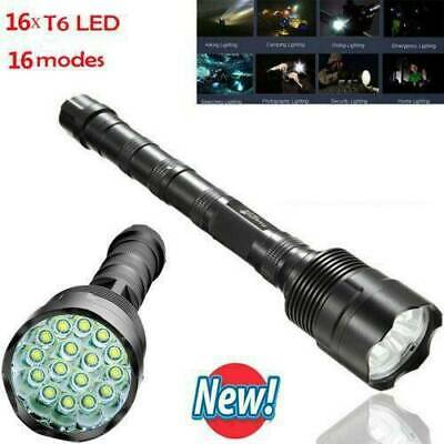 80000LM Tactical Flashlight 3Modes 26650//18650bty Torch Lamp Rechargable Light