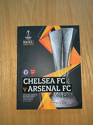 Europa League Final 2019 Matchday Programme,Chelsea,Arsenal,Collectors item,Gift