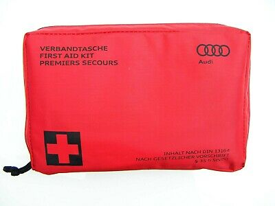 Genuine Audi In Car First Aid Kit New Din 13164 Made In Germany