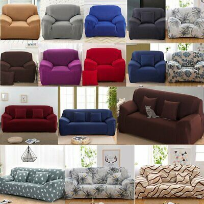 1/2/3/4 Seater Stretch Sofa Lounge Cover Couch Recliner Chair Protector Washable