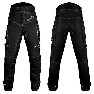 Defy Men's Motorcycle Motorbike Touring CE Armored All-Weather Waterproof Pants
