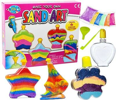 Sand Art Bottles Make Your Own Sand Art DIY Super Activity Kit Kids Craft Toy
