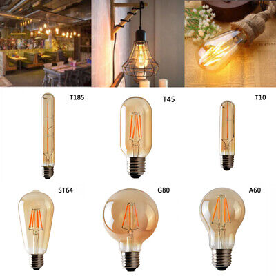 Retro Filament Edison Antique Dimmable Industrial Lamp Light Bulb E27b Practical