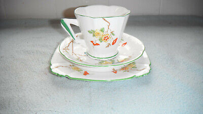 Early Royal Albert Crown China Trio  Floral Pattern