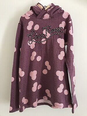 Scotch R'Belle Girl's Purple Hooded Sweat Top Sz 12