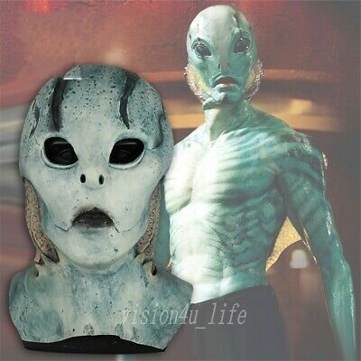 2019 Superhero Hell Boy Abe Sapien Blue Mask Cosplay Murloc Scary Halloween Mask