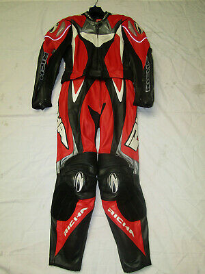 Richa Ladies Two Piece Red / Black / White Leather Motorcycle Suit - Uk 14