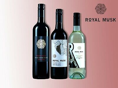 Royal Musk Wine ||Premium Red and White wine from South Australia (3*750ml)