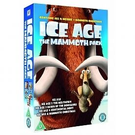 Ice Age 1-4 plus Mammoth Christmas: The Mammoth Collection [DVD] [2002], New, DV