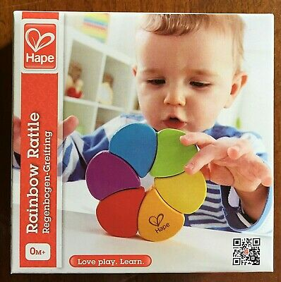 HAPE Rainbow Rattle. Suitable from birth. Excellent quality, stimulating.