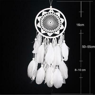 Dream Catcher Ornament Home Decor Lace Flower Feather Car Hanging Bedroom Gift
