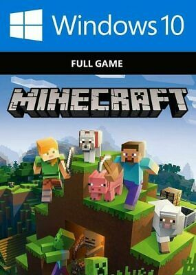 Minecraft for Windows 10 Edition (PC ONLY ACTIVATION KEY ONLY FULL GAME NO BOX)