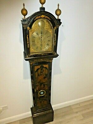 George III 8 day lacquered case grandfather clock