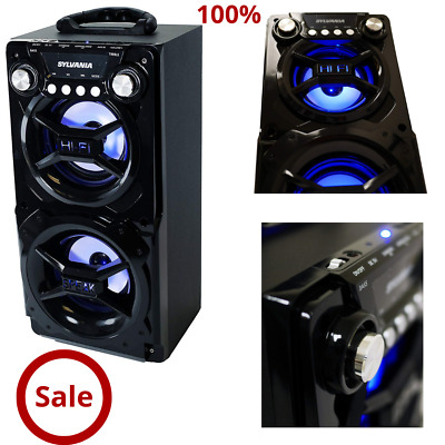 Speaker Portable Bluetooth Party System  Stereo Light Big LED  Tailgate Loud up
