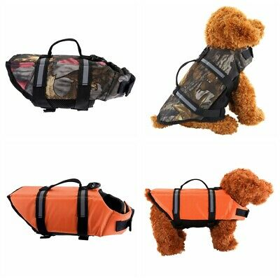 Pet Dog Life Jacket Swimming Float Vest Reflective Adjustable Safety Preserver