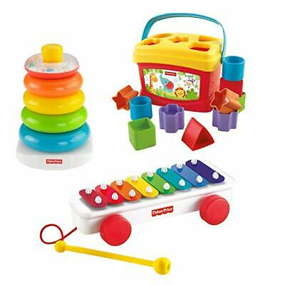 Fisher-Price Classic Stacking Rings, Xylophone & Blocks Gift Set Toy
